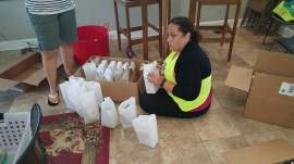 Packing lunches for the kids who dont have food during the summer